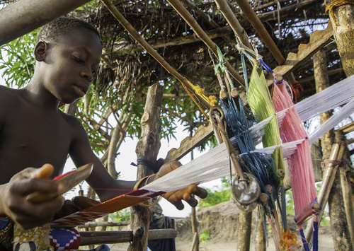 Kente Weaving at Agotime-Kpetoe,volta,