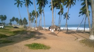 Sir Charles Beach in Winneba in central region , Ghana